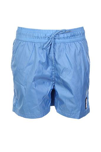 hero seven maillots de bain garçon de couleur bleu