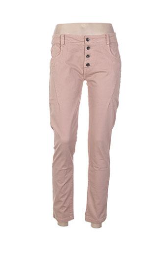 pako litto pantalons femme de couleur rose