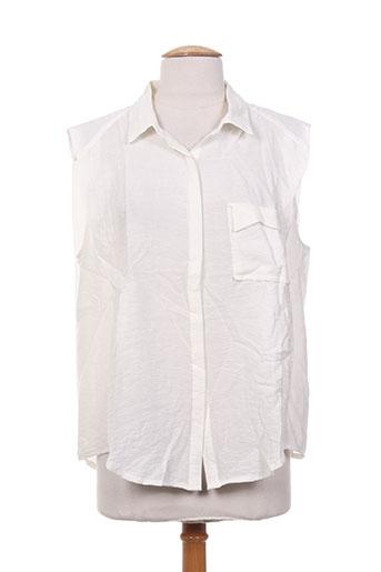 ryujee chemises femme de couleur blanc