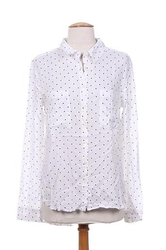 ltb chemises femme de couleur blanc
