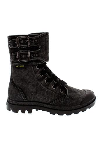 palladium chaussures femme de couleur noir