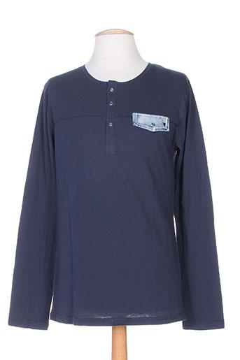 deepend t-shirts homme de couleur bleu