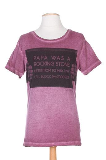 T-shirt manches courtes violet DEEPEND pour homme