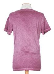 T-shirt manches courtes violet DEEPEND pour homme seconde vue