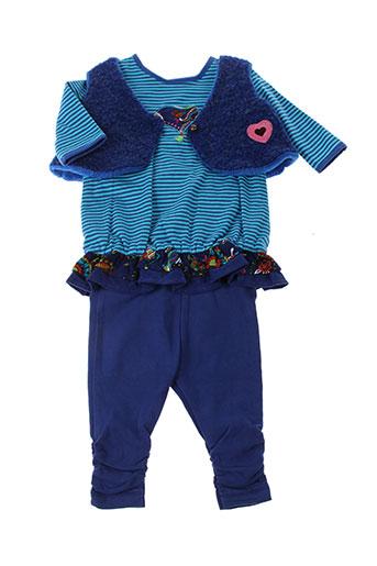 tapioca ensemble fille de couleur bleu
