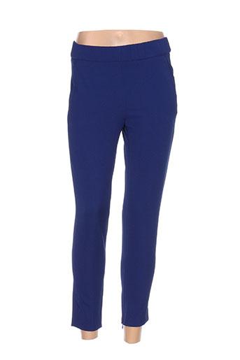 amelia pantalons femme de couleur bleu