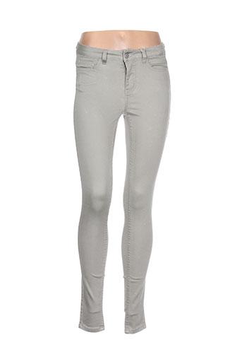 pieces pantalons femme de couleur gris