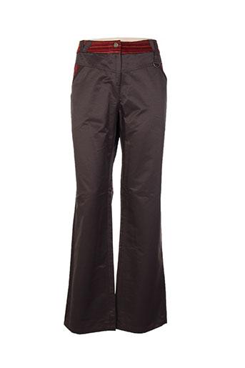 chrismas et s pantalons et decontractes femme de couleur marron