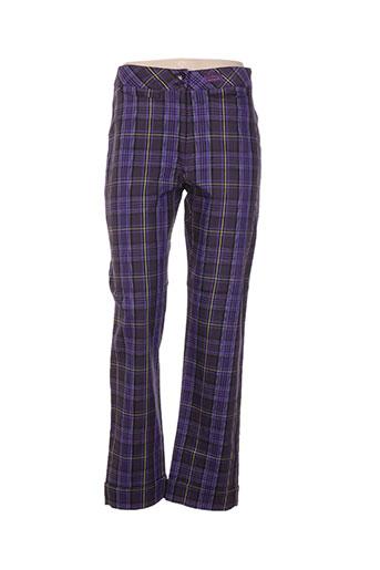 chrismas's pantalons femme de couleur violet