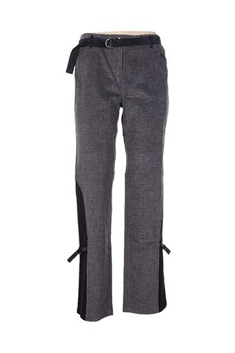 Pantalon casual gris CHRISMAS'S pour femme