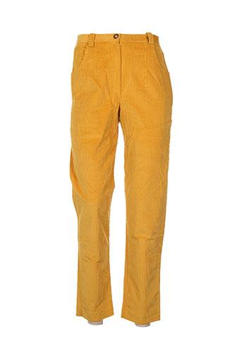 Pantalon casual jaune CHRISMAS'S pour femme