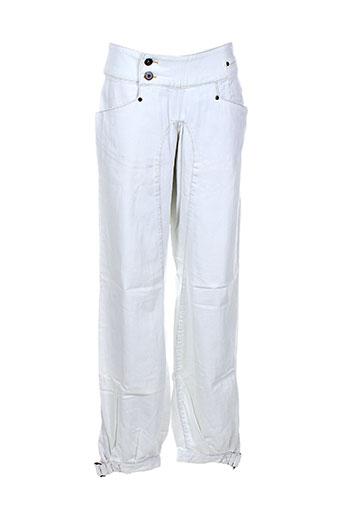 nikita jeans femme de couleur blanc
