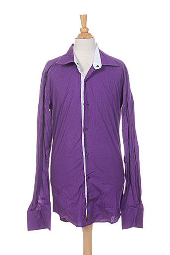 Chemise manches longues violet FREESIDE pour homme
