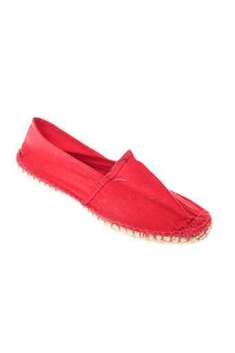 reservoir et shoes espadrilles homme de couleur rouge