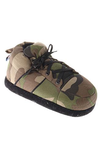 sleeperz chaussures homme de couleur vert