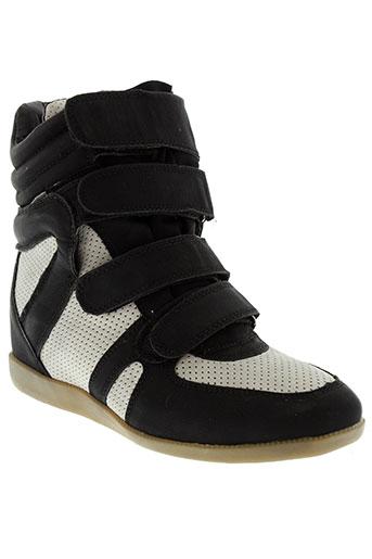 coco perla chaussures femme de couleur noir