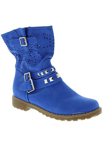 c et m et paris boots femme de couleur bleu