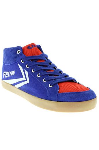 feiyue chaussures homme de couleur bleu