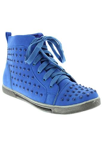 c'm paris chaussures femme de couleur bleu