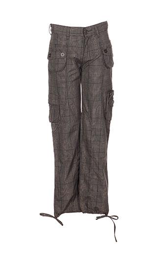 black de la rosa pantalons fille de couleur gris