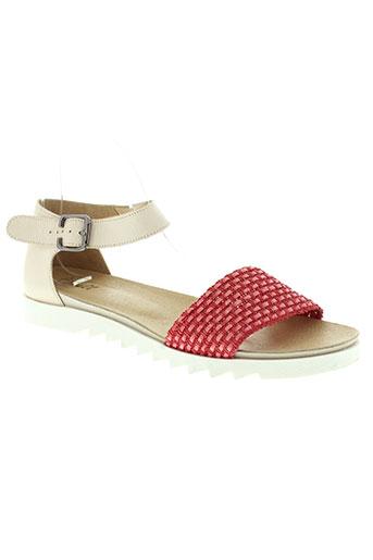 axell chaussures femme de couleur rouge