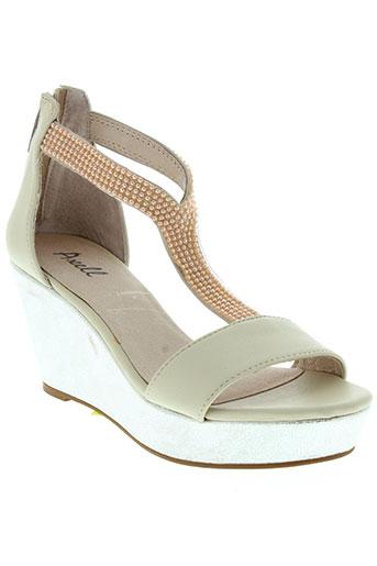 axell chaussures femme de couleur beige