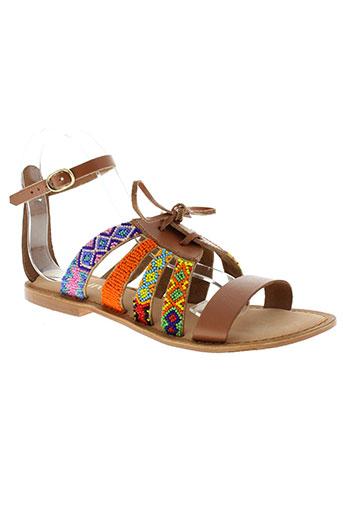 lollipops sandales et nu et pieds femme de couleur marron