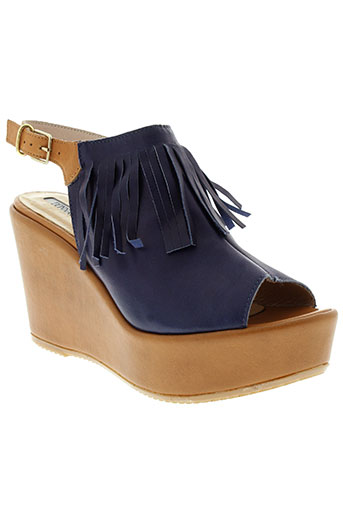 donna piu chaussures femme de couleur bleu