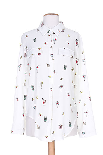 goa chemises femme de couleur blanc