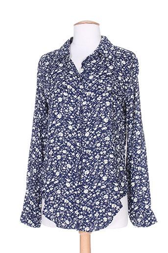 goa chemises femme de couleur bleu