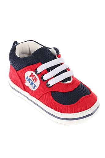 ikks chaussons garcon de couleur rouge