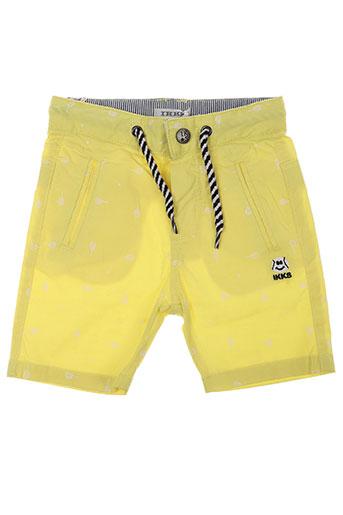 ikks shorts / bermudas garçon de couleur jaune