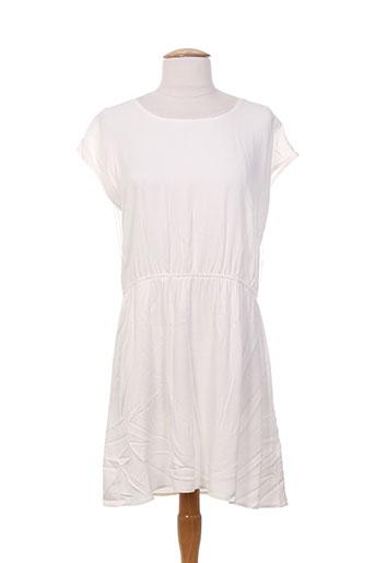 teddy smith robes fille de couleur blanc