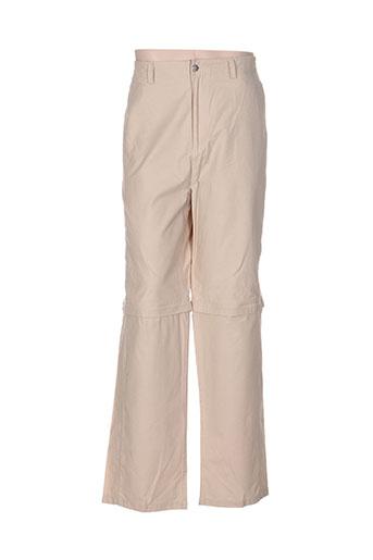 john stevens pantalons homme de couleur beige