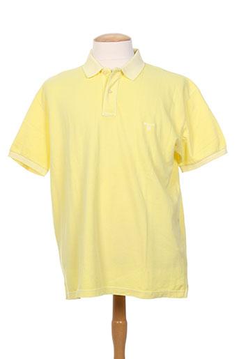 gant t-shirts homme de couleur jaune