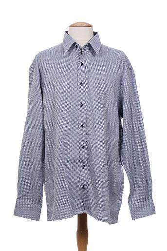 eterna chemises homme de couleur bleu