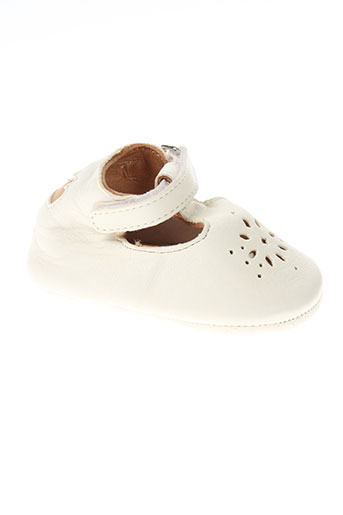 easy peasy chaussures fille de couleur blanc