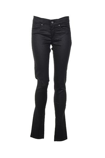pepe jeans pantalons fille de couleur noir