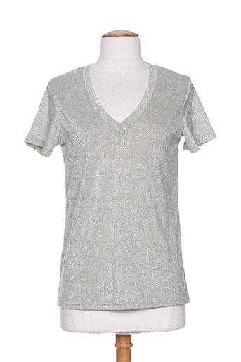 lm lulu t-shirts femme de couleur gris