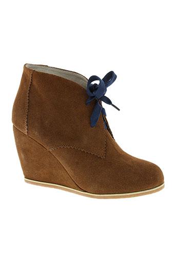 essentiel boots femme de couleur marron