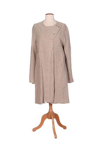cotelac manteaux femme de couleur beige