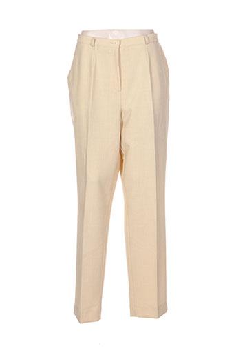 robell pantalons femme de couleur jaune