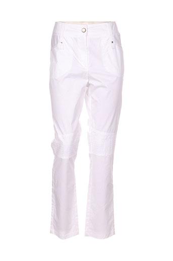 deca pantalons femme de couleur blanc