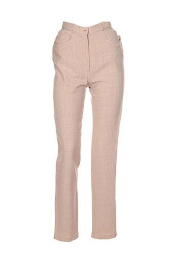 rhapsodie pantalons femme de couleur beige