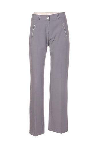 com elle pantalons femme de couleur gris