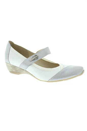 geo-reino chaussures femme de couleur blanc