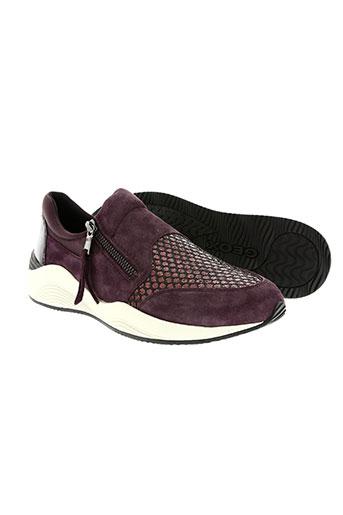geox chaussures femme de couleur violet