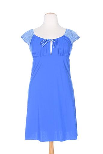 antigel chemises et de et nuit femme de couleur bleu