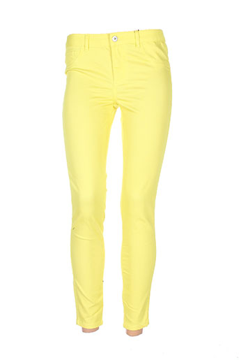 vila pantacourts femme de couleur jaune