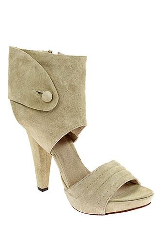 Sandales/Nu pieds beige V M pour femme